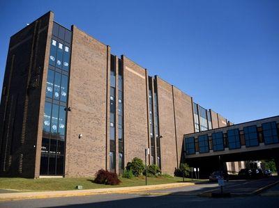 Exterior of Hempstead High School on July 10,