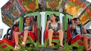 Jessica Granieri, 15, of Kings Park, left, and