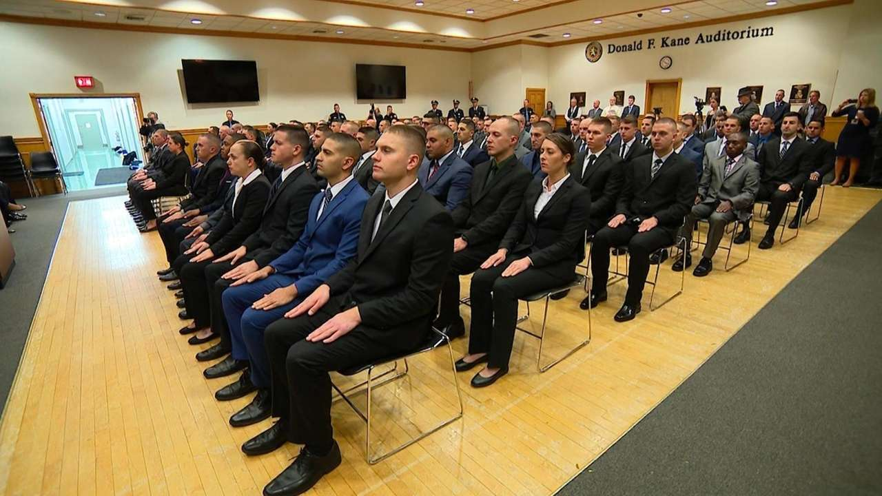 On Friday, atotal of 96 new police officers