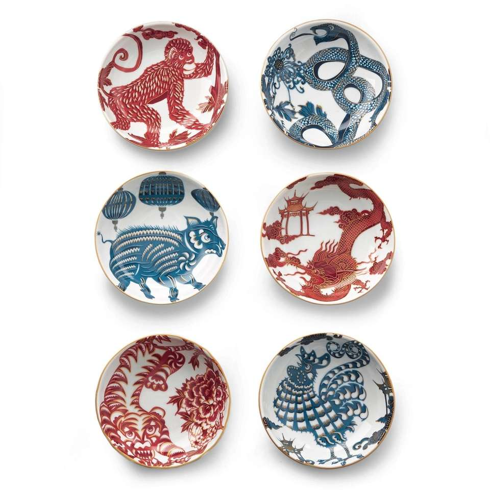Designed for Williams Sonoma exclusively, these Lunar Zodiac
