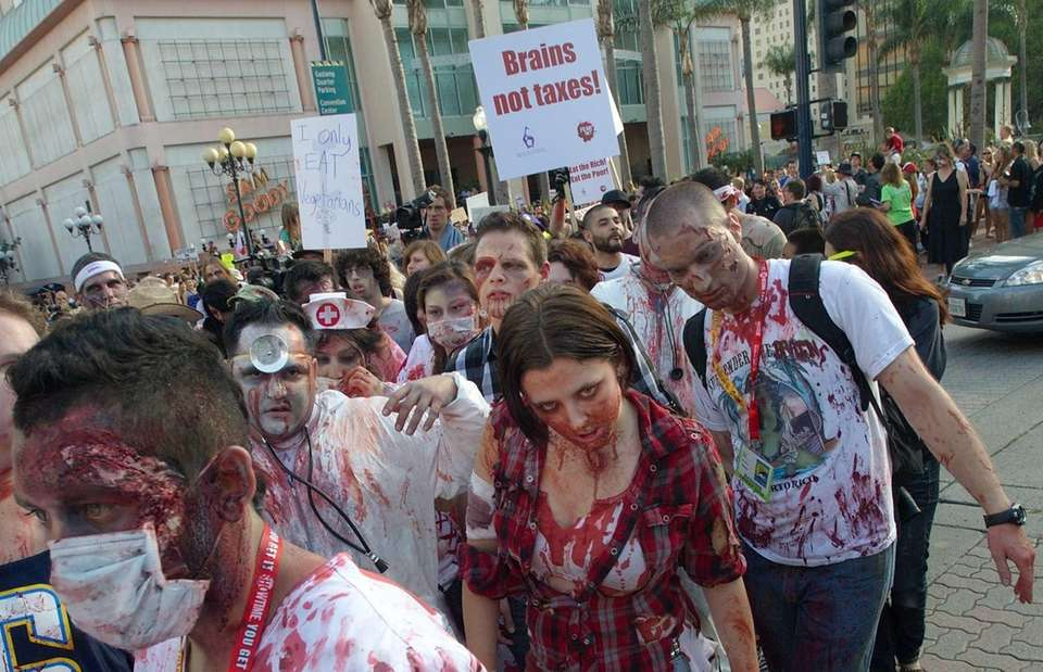 Fans participate in ''Zombie Walk: San Diego'' during