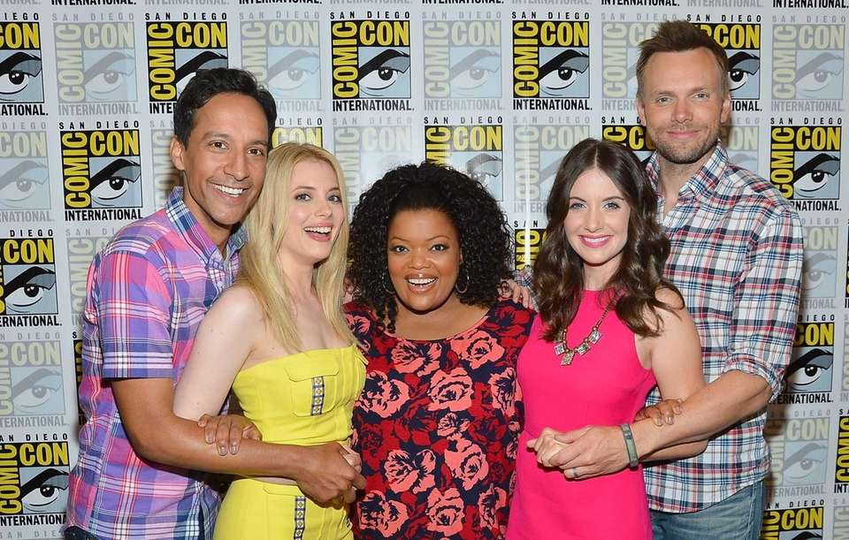 Actors Gillian Jacobs, Danny Pudi, Yvette Nicole Brown,