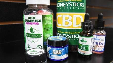 A collection of CBD-infused products at Ok Botanicals