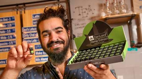 Flux Coffee owner Arsalan Pourmand sells vials of