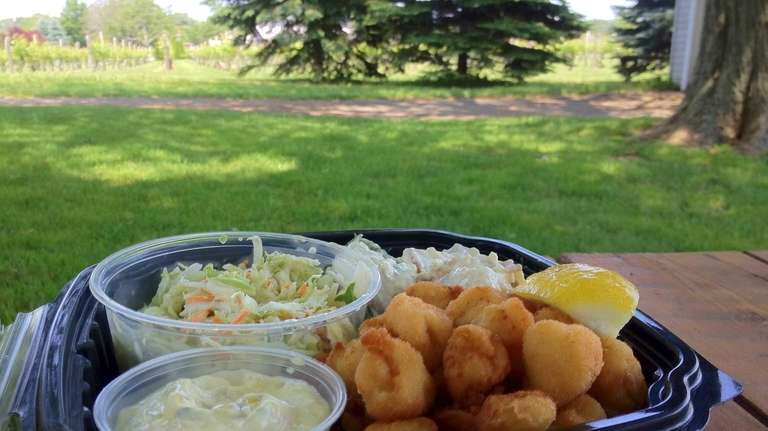 Fried Peconic Bay scallops are on the menu