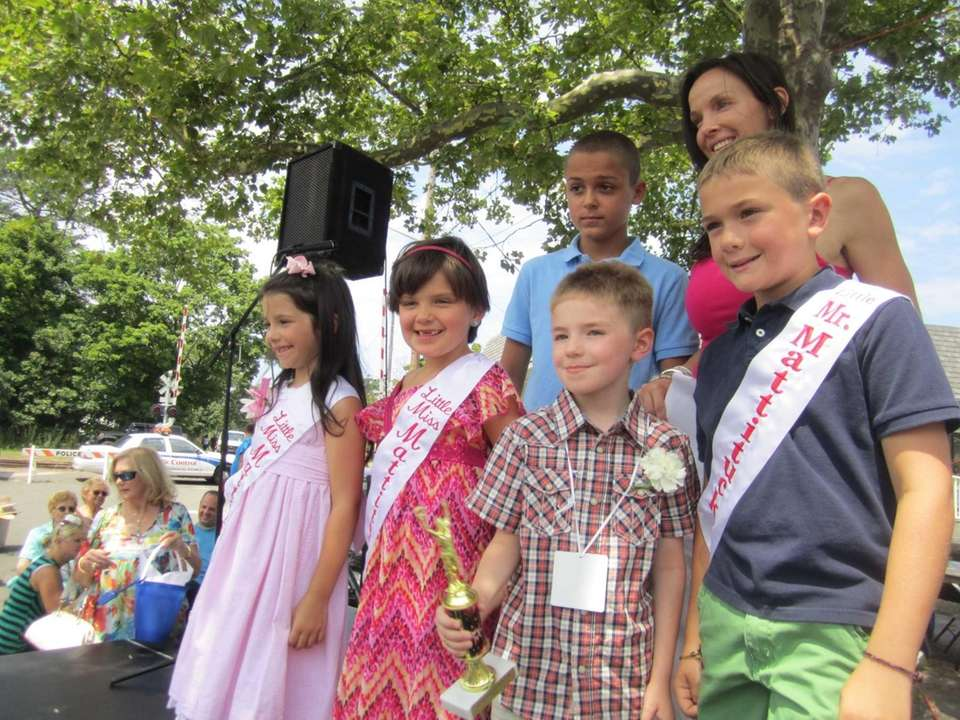 Top row: James McKinnon, 11, and Donielle Cardinale,