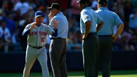 Terry Collins reacts after being ejected in the