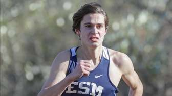 Michael Silveri of Eastport-South Manor places second in