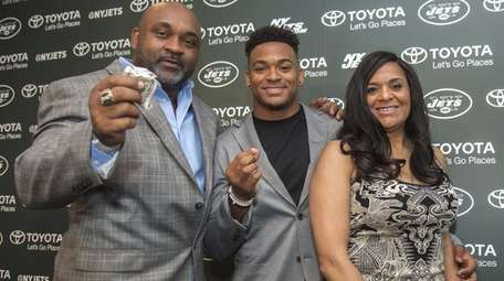 Safety Jamal Adams is introduced by the Jets