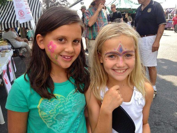 Elena Rodilico, 8, of Huntington, and Lauren Martin,