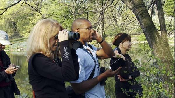 "A scene from ""Birders: The Central Park Effect."""