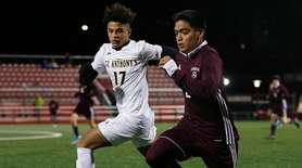 Dominic Algieri of Saint Anthony's battles for the