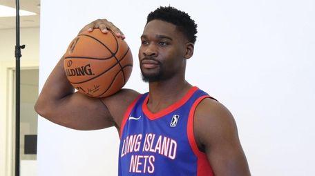 Long Island Nets guard Ash Yacoubou poses during