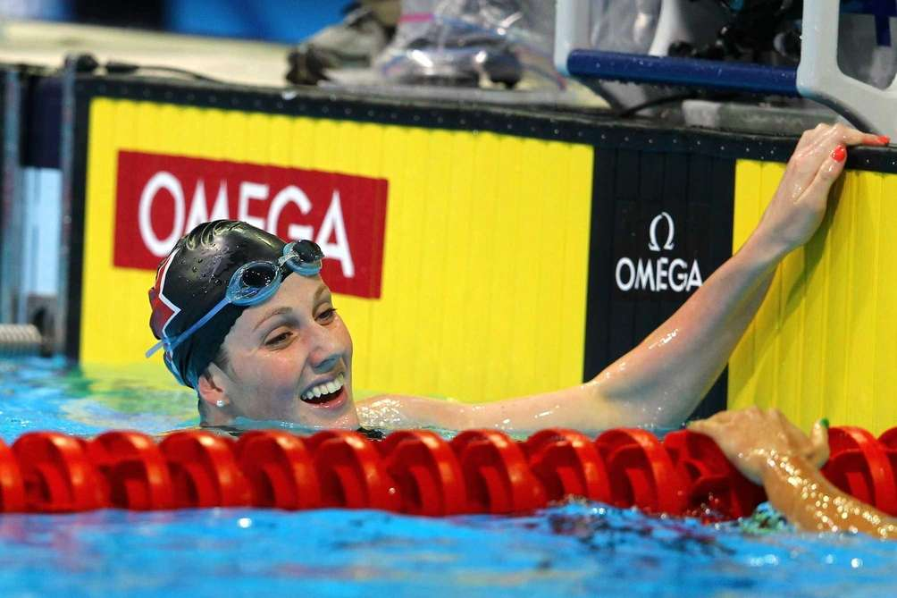 OMAHA, NE - JULY 01: Missy Franklin reacts