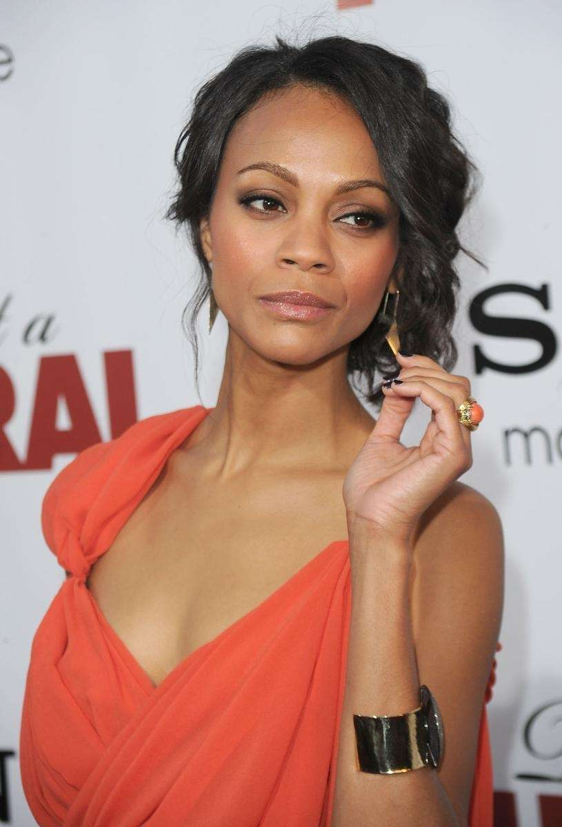 Actress Zoe Saldana, star of