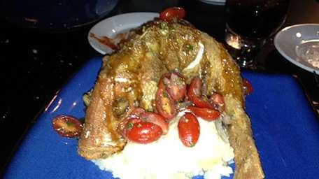 Crisp red snapper at Rockin' Fish in Northport.