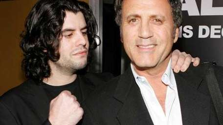 Sage Stallone (L) and Frank Stallone at