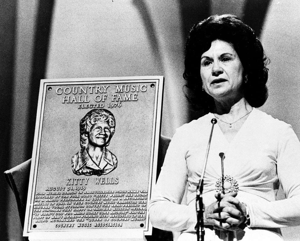 Country Music Hall of Fame inductee Kitty Wells,