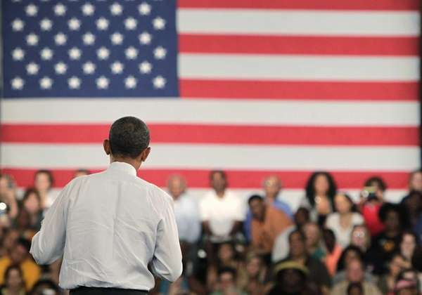 U.S. President Barack Obama speaks during a campaign