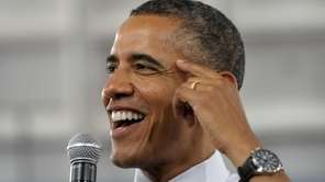 President Barack Obama responds to a question from