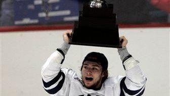 Yale's Sean Backman celebrates his team's 5-0 win