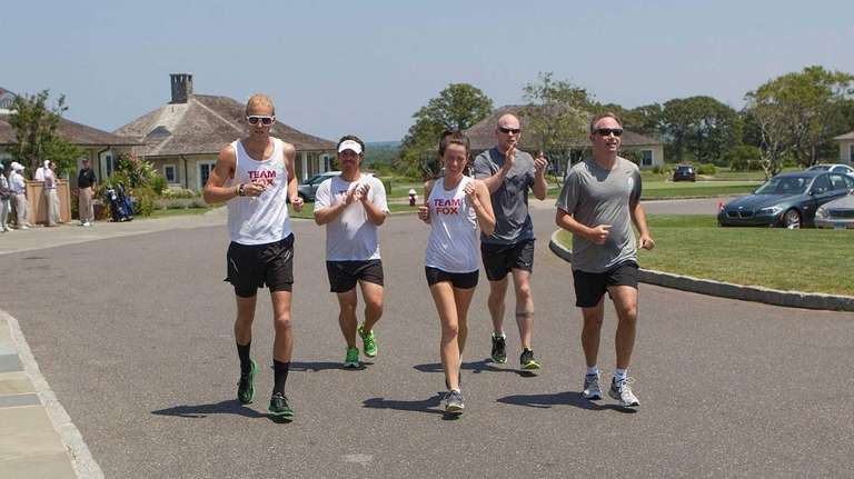 Runners on the last leg of the trip