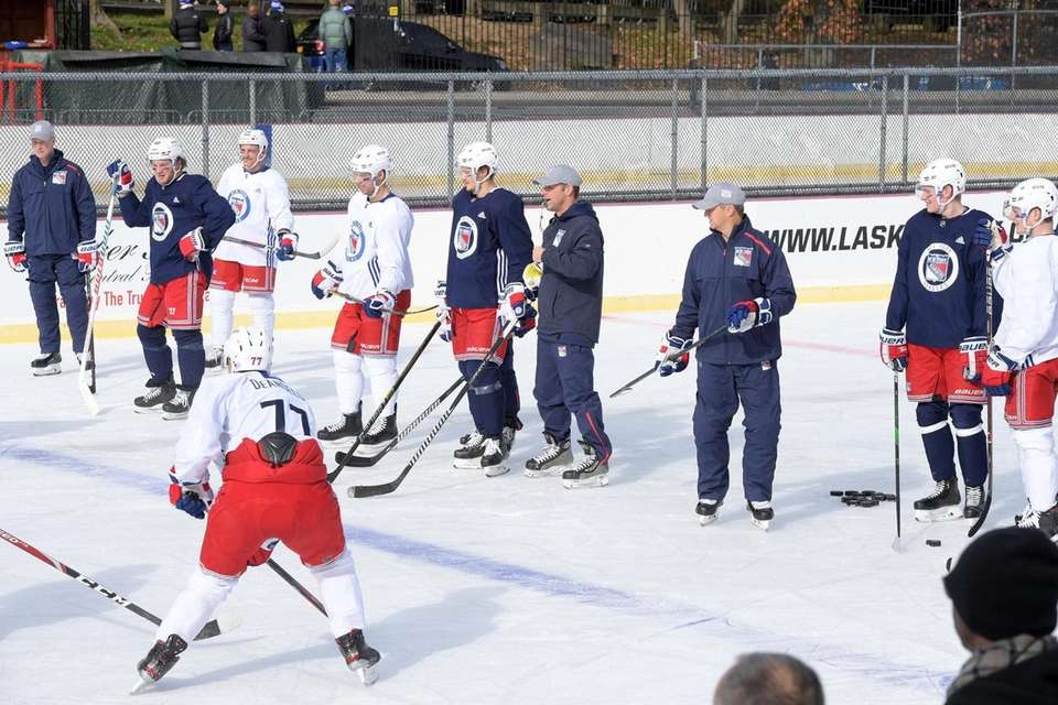 NY Rangers at outdoor open practice that was