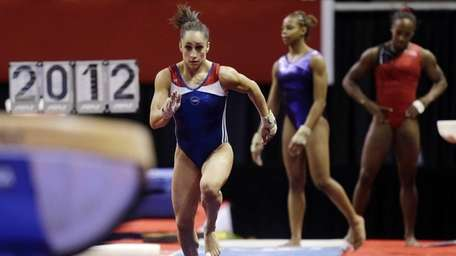 Jordyn Wieber makes her approach while attempting a