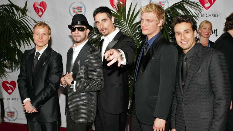 The Backstreet Boys, from left, Brian Littrell, A.J.