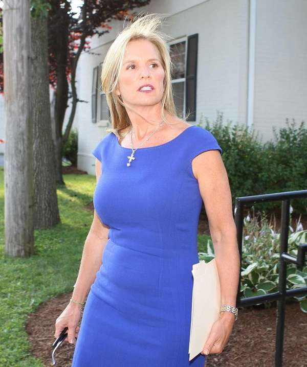 Kerry Kennedy leaves the North Castle courthouse after