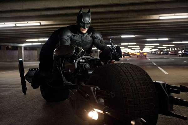 Christian Bale as Batman in ?The Dark Knight