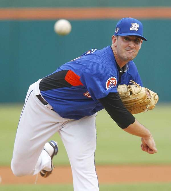 Buffalo Bisons pitcher Matt Harvey, a New York