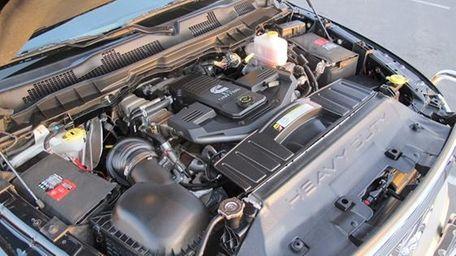 Cummins turbo-diesel engine on a 2012 Dodge Ram