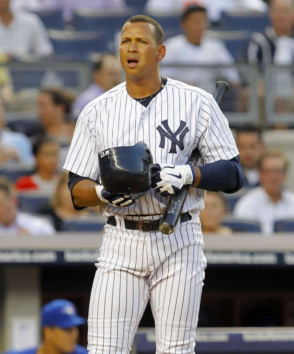 Alex Rodriguez of the New York Yankees bats