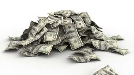 A stock image of a pile of money.