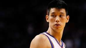 Jeremy Lin of the New York Knicks looks