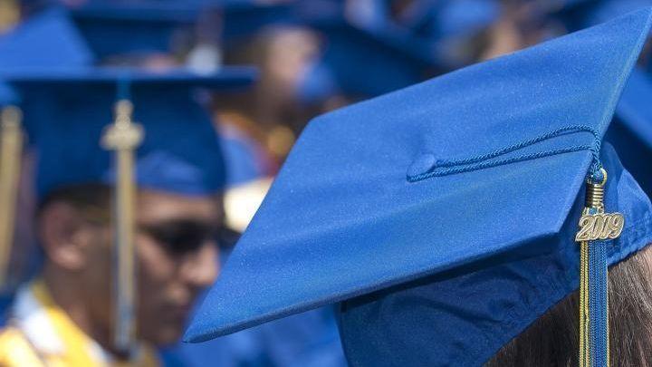 A file photo of a graduation ceremony.