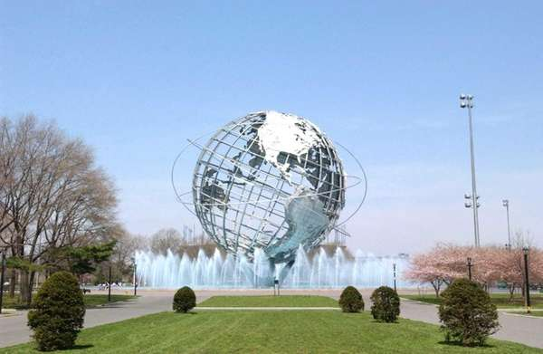 The Flushing Meadows-Corona Park Unisphere in Queens.