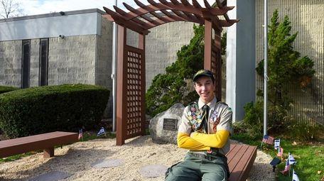 Boy Scout Josh Brodsky, 16, of Commack, on