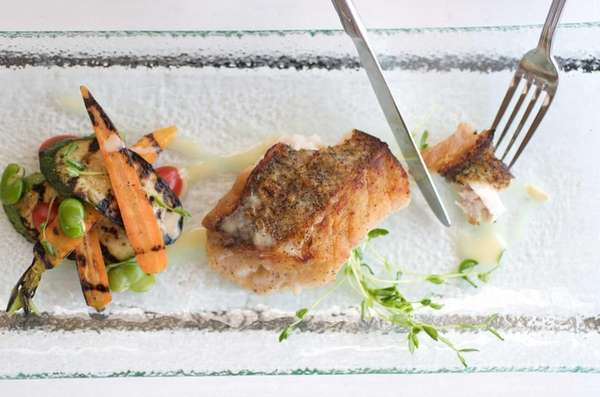 Fishbar in Montauk serves fresh, pan-seared tilefish with