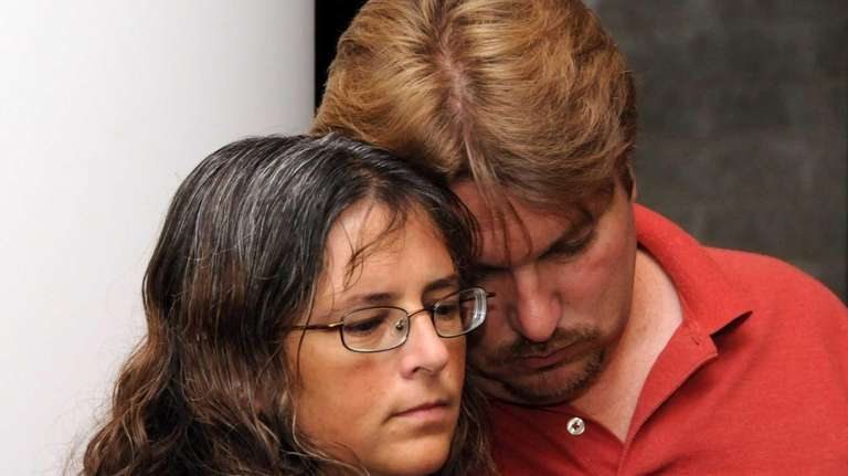 Tom and Cheryl Walsh, parents of Brittney Walsh,