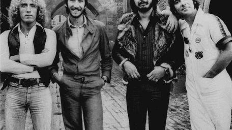 Roger Daltrey, left, Pete Townshend, John Entwistle, and