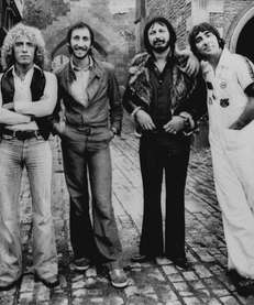 Roger Daltrey, left, Pete Townshend, John Entwistle, and