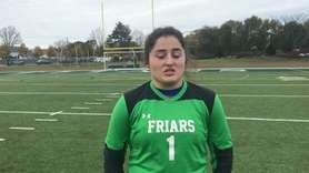 St. Anthony's senior goalie Kaitlyn Mahoney discussed the
