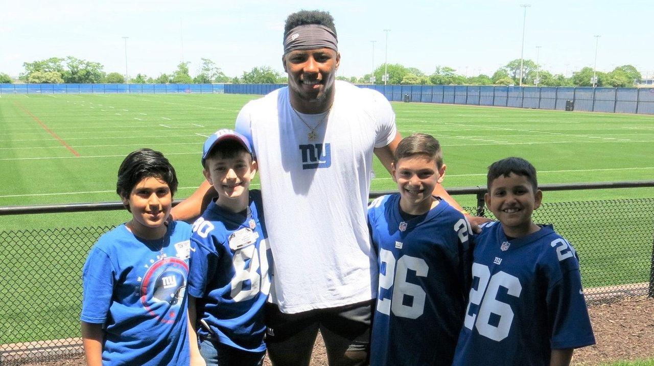 LI kids interview Giants running back Saquon Barkley