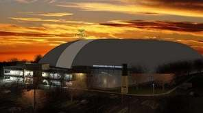 An artist's rendering of a proposed indoor sports
