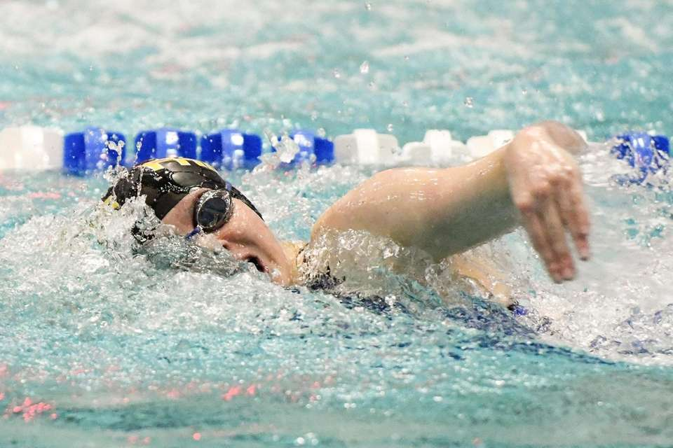 Arabella Pompay of St. Anthony's competes in the