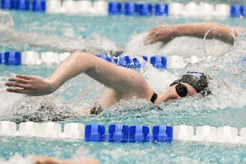 Orla Egan of The Mary Louis Academy swims