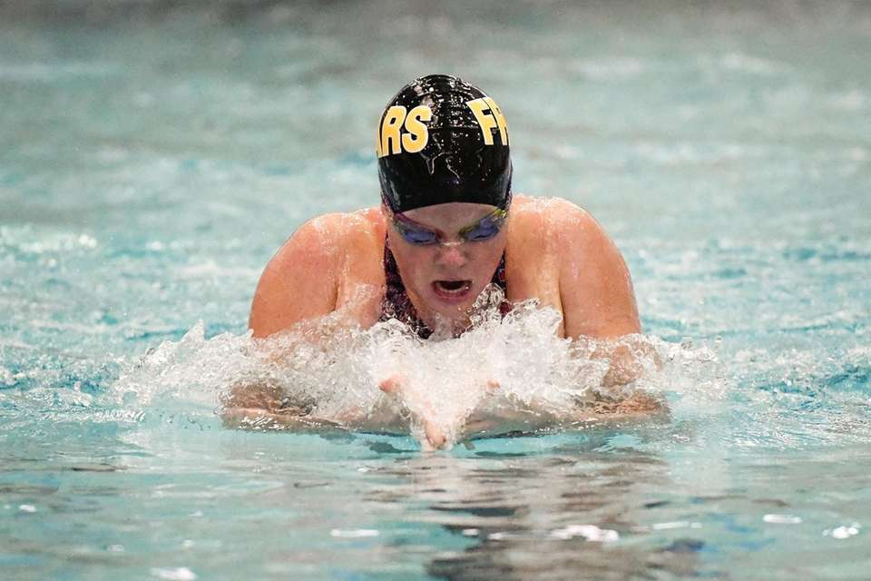 Mary McKenna swims the breast stroke during the