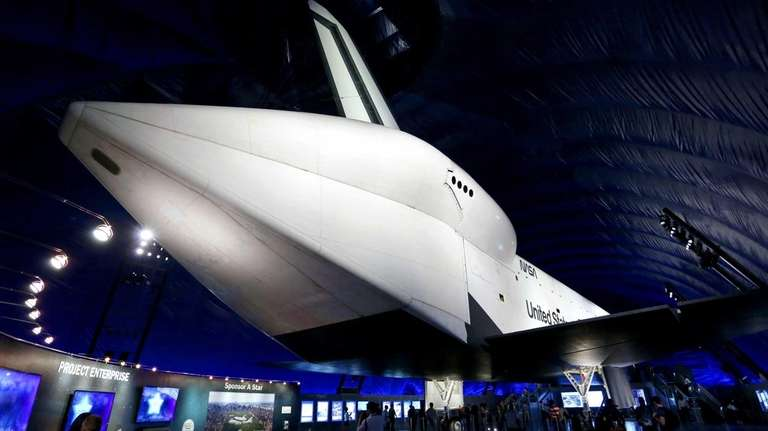 The space shuttle Enterprise at the Intrepid Sea,